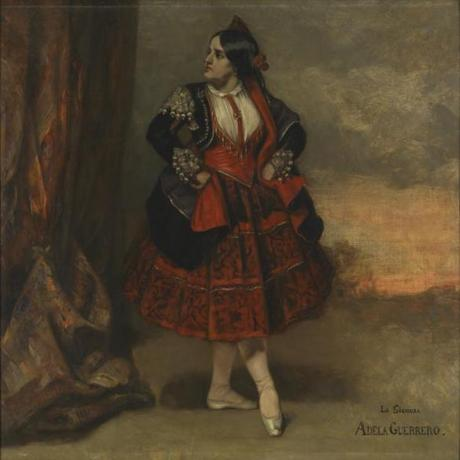 "Courbet's ""Signora Adela Guerrero, Spanish Dancer."""